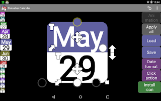 Screenshot of Status bar Calendar