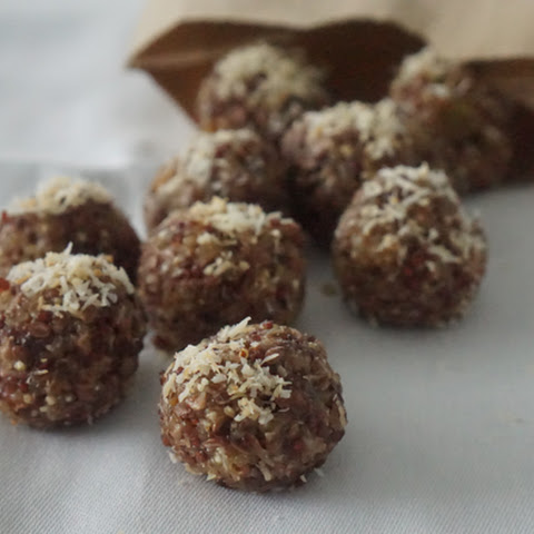 Gluten Free Energy Balls with Quinoa & Coconut