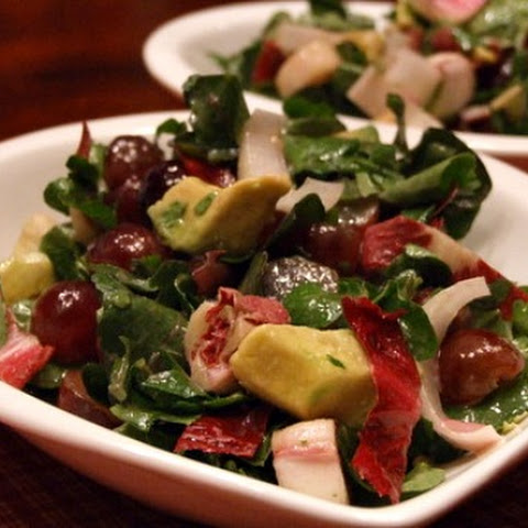 Watercress- Grape Salad With Creamy Cabernet Dressing
