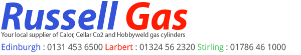 Russell Gas local supplier of Calor, Cellar Co2, Hobbyweld and Campingaz