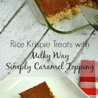 Rice Krispie Treats with Milky Way Simply Caramel Topping