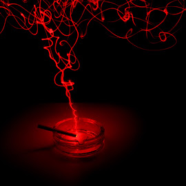 Ciga-Red by Izak Heerden - Abstract Light Painting ( cigarette, light painting, night photography )