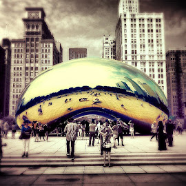 by Eric Finer - Buildings & Architecture Statues & Monuments ( new, old, thebean, toomuchfilter, chicago, meets )