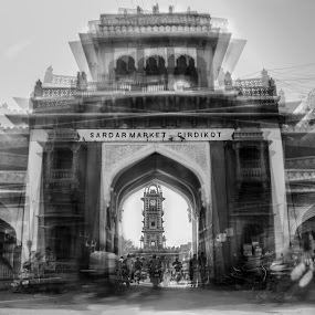Beauty of chaos by Devesh Kalla - Buildings & Architecture Public & Historical ( black and white, clock tower, rajasthan, india, historical, heritage, jodhpur,  )