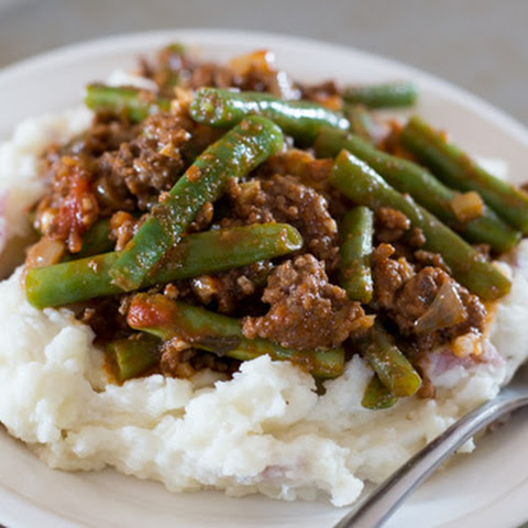 Lebanese Beef and Green Beans