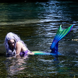 Mermaids are real.. by Christopher Winston - People Street & Candids ( water, outdoors, fun, mermaid, river )