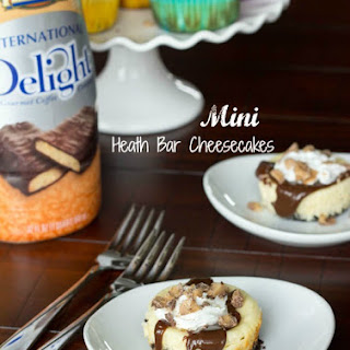 Mini Heath Bar Cheesecakes