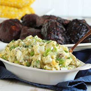 The Best Smashed Potato Salad