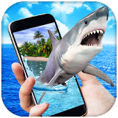 Shark in Phone Prank Icon