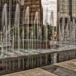 by Jeff London - City,  Street & Park  Fountains