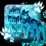 Neon Wolf Keyboard Theme Icon