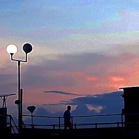 AFTER SUN SET by Debasish Chatterjee - Landscapes Sunsets & Sunrises