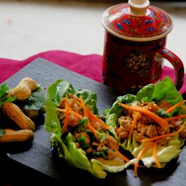 Asian Pork Lettuce Wraps by Dave Clark - Food & Drink Plated Food ( food, pork, appetizer )