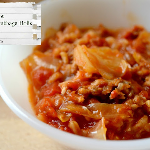 Crock pot Lazy Cabbage Rolls