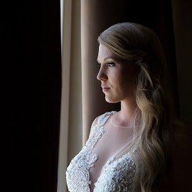 Waiting by Zarko Piljak - Wedding Bride ( love, natural light, window, happy, wedding, bride, groom )