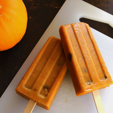 Chocolate Chip Pumpkin Pie Popsicles