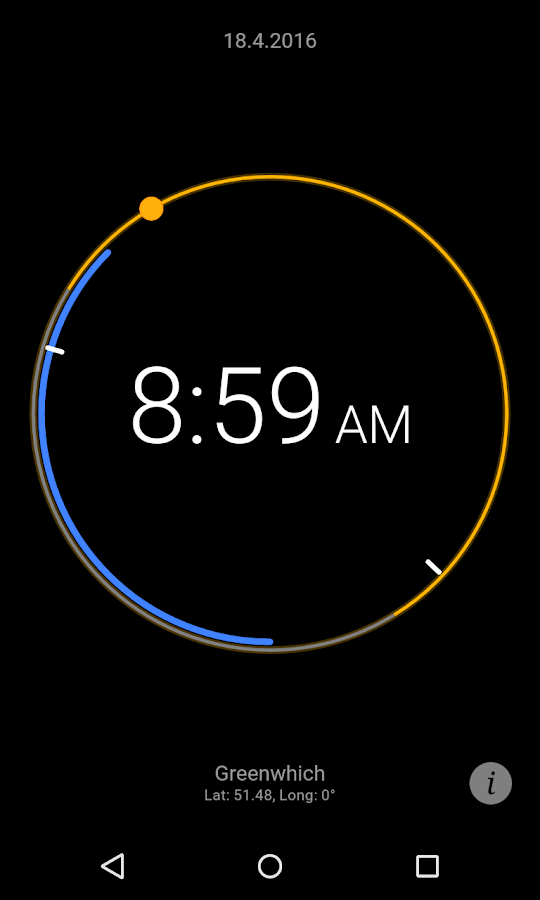 Sun Clock Screenshot