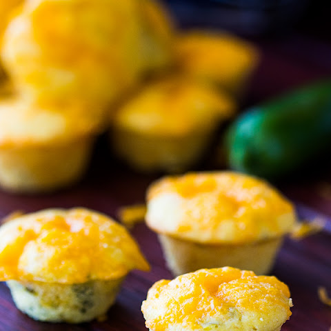 Mini Jalapeno Cheddar Honey Corn Muffins