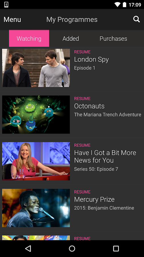 BBC iPlayer Screenshot 2