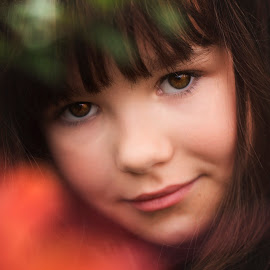 Emily-Storm by Tami Carlile - Babies & Children Child Portraits ( berrytree, windowtothesoul, closecrop, autumnshoot, beautiful, eyes )