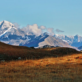 km by Lilian Iatco - Landscapes Mountains & Hills ( mountains, sky, travel, sun, alps )