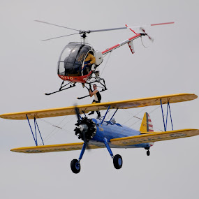 Aero Hitchhiker by Greg Harrison - Transportation Airplanes ( air to air transfer, stearman, aerobatics, otto, daredevil )