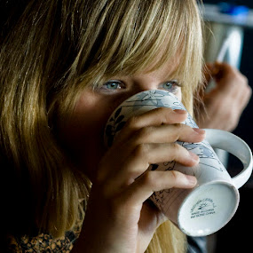 Polar Cafe by Tigi Borg - People Fine Art ( cup, trade show, girl, color, event, croatia, cafe, zagreb, people, photography )