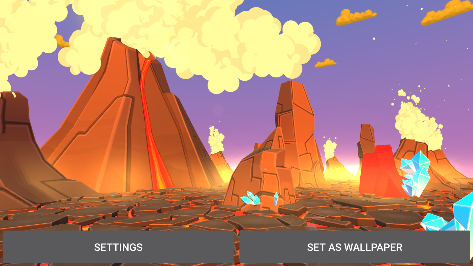 Volcano 3D Live Wallpaper Screenshot 19