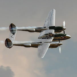 p38 lightning by Nick Wastie - Transportation Airplanes
