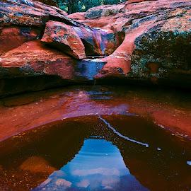 The Sacred Basin by Steven Love - Landscapes Caves & Formations ( water, landmark, famous, 7 sacred pools, pool, arizona, sandstone, sedona, sacred )