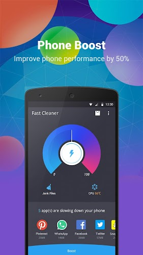 Fast Cleaner - Speed Booster & Cleaner Android App Screenshot