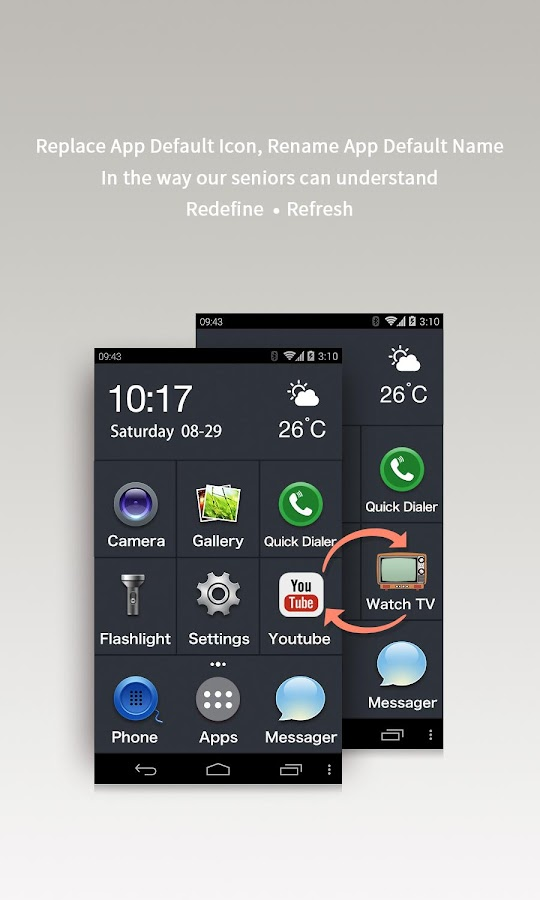 Large Launcher - Big Font,Icon Screenshot 3