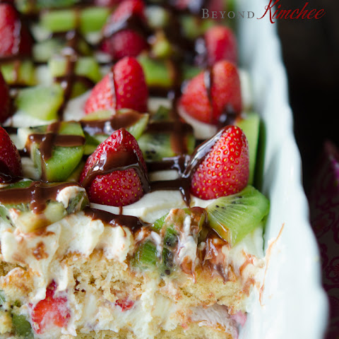 Strawberry Kiwi Tiramisu, without the alcohol