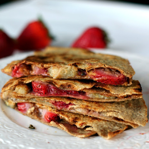 Peanut Butter, Strawberry, & Banana Quesadillas