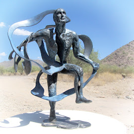 Taliesin West Statue by Nancy Young - Artistic Objects Other Objects ( statue, art, artistic objects, outside )