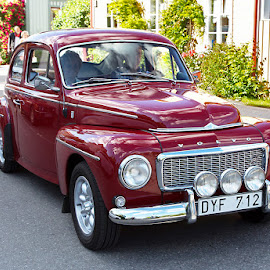 Volvo PV 544 model year1965 by Allan Wallberg - Transportation Automobiles ( car, old, vintage cars, joy, street, driving, road, transportation, interest, stylish, lifestyle, dark red, driver, volvo, man, classic, editorial, speed, swedish, pv 544, beautiful, hobby, pleasure, red, enthusiasts, outdoor, outdoors, summer, joy ride )