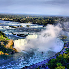 Canadian Niagara by Diana Campeanu - Landscapes Waterscapes ( nature, canada, waterscape, falls, niagara, frontiers, panorama )