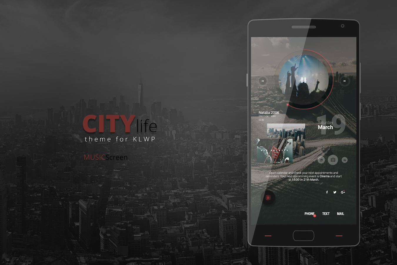 City Life Theme for KLWP Screenshot 3
