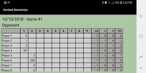 Dartball Statistician screenshot 3
