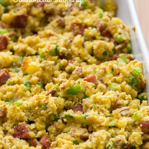 Cornbread Stuffing with Andouille and Pecans