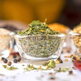 Dry Fenugreek Leaves by Kunal Kumar Maurya - Food & Drink Ingredients ( bowl, dry, dry fenugreek leaves, leaves, fenugreek )
