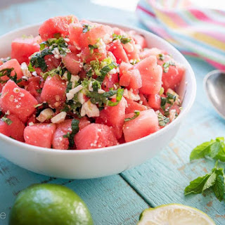 Watermelon Salad with Feta and Jalapeños