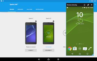 Screenshot of Xperia Link™