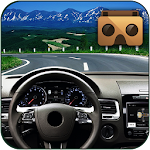 Highway VR Car - Cardboard Icon