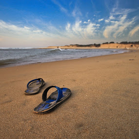 LIFE BEACH by NEELANJAN BASU - Landscapes Beaches ( water, waterscape, blue, sea, beach )