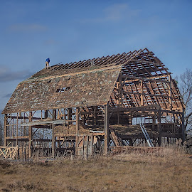 Maybe by Nick Goetz - Buildings & Architecture Decaying & Abandoned ( old, frame, barn, repair, country )