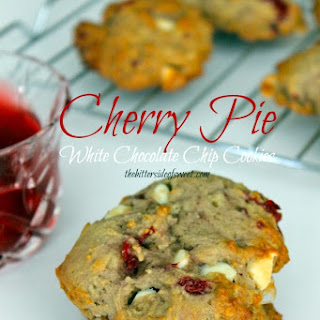 Cherry Pie White Chocolate Chip Cookies