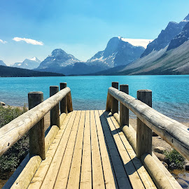 Bow Lake by Margie Troyer - Landscapes Waterscapes