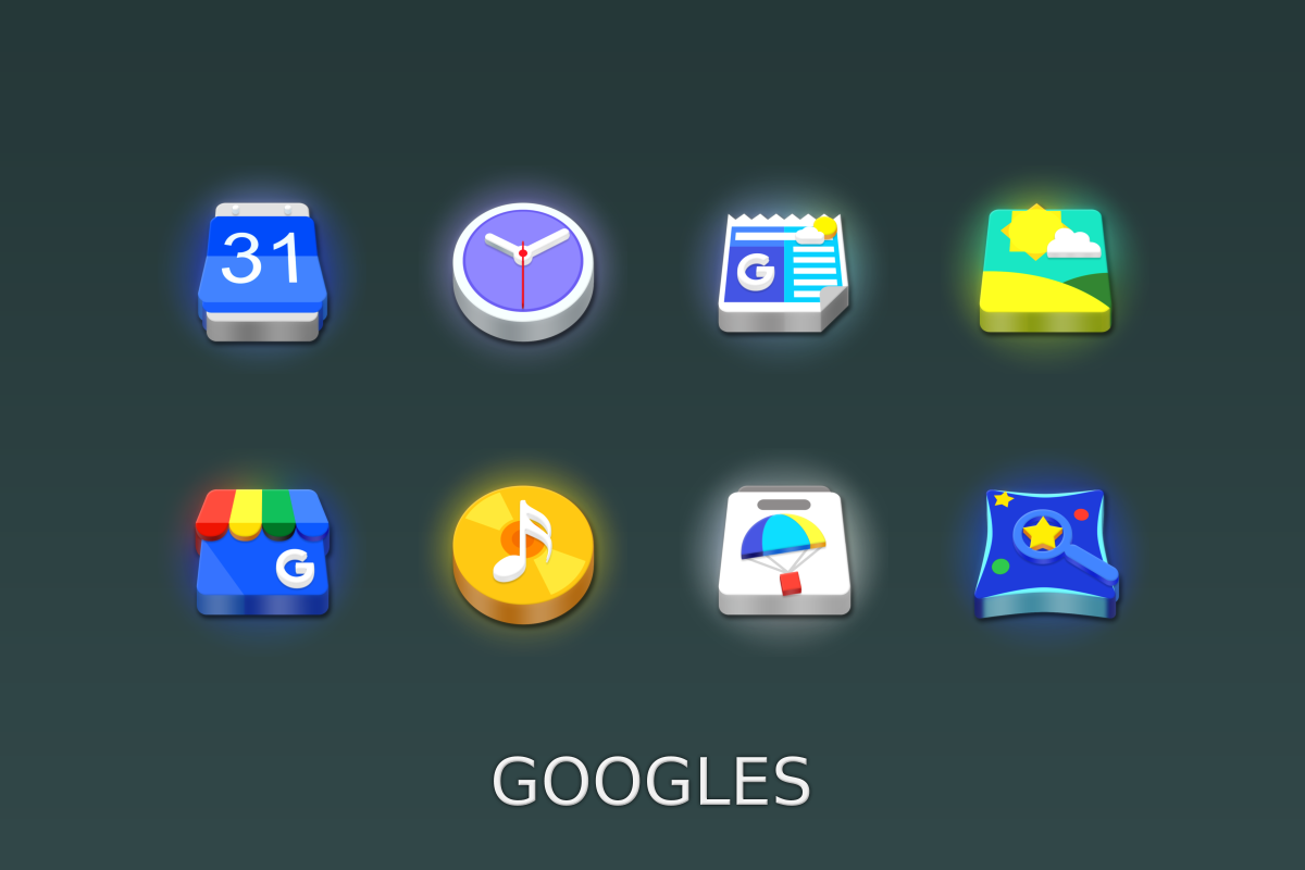 LED 3D Icon Pack Screenshot 13