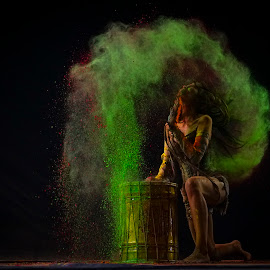 Tribal dancer by Indrawan Ekomurtomo - People Professional People